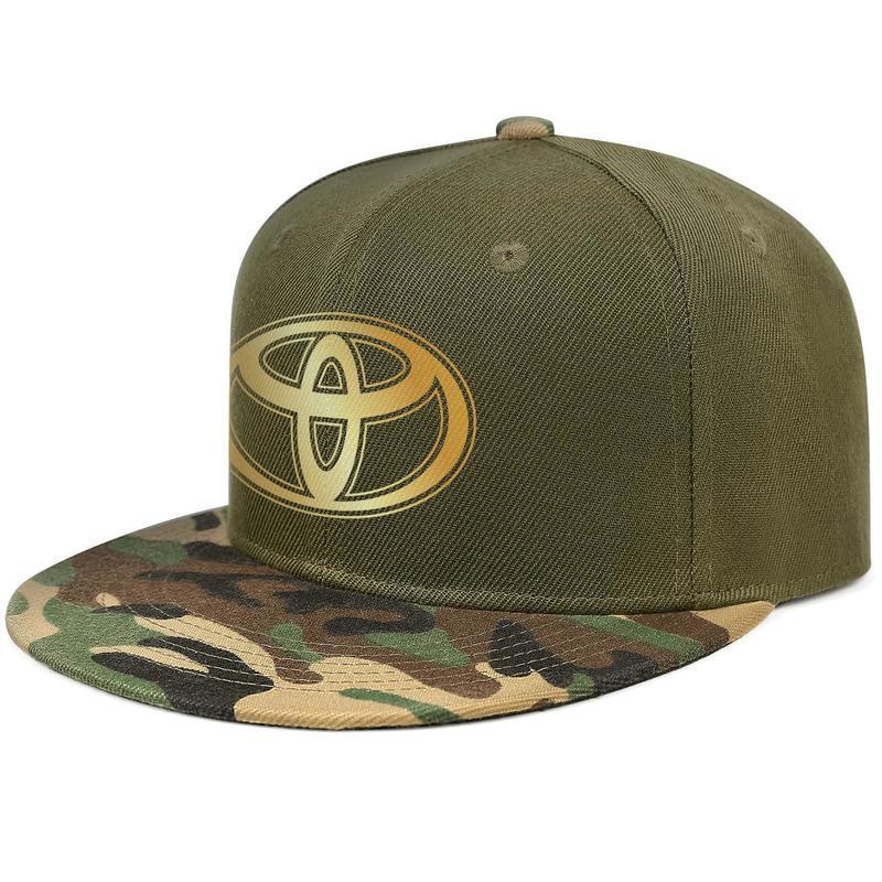 Toyota Flaş altın araba logosu Erkek ve kadın Kamyon Şoförü Kamuflaj Kap Golf Moda beyzbol Şık şapkalar yeni model 3D etkisi bayrak highlander