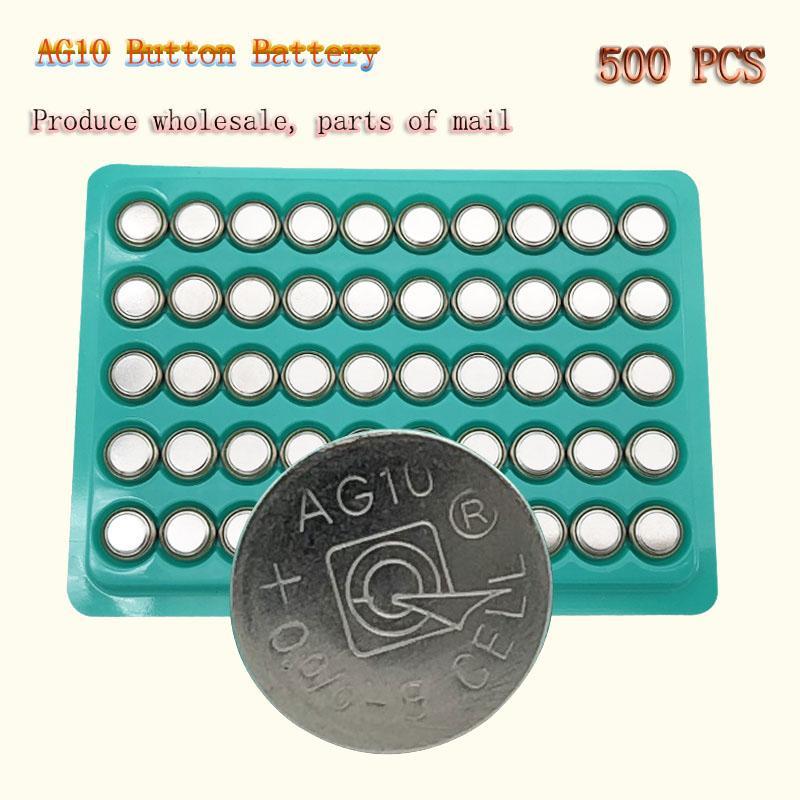 500PCS المصنع مباشرة LR1130 AG10 بطارية زر LR1130 1130 SR1130 389A LR54 L1131 389A 1.5V بطارية زر بأسعار معقولة لمشاهدة اللعب، الخ.