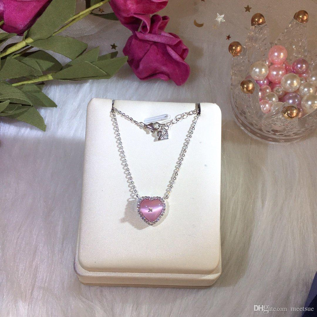 Heart woman necklace electroplated 18K gold bead edge good quality counter with gentle 2020 gift