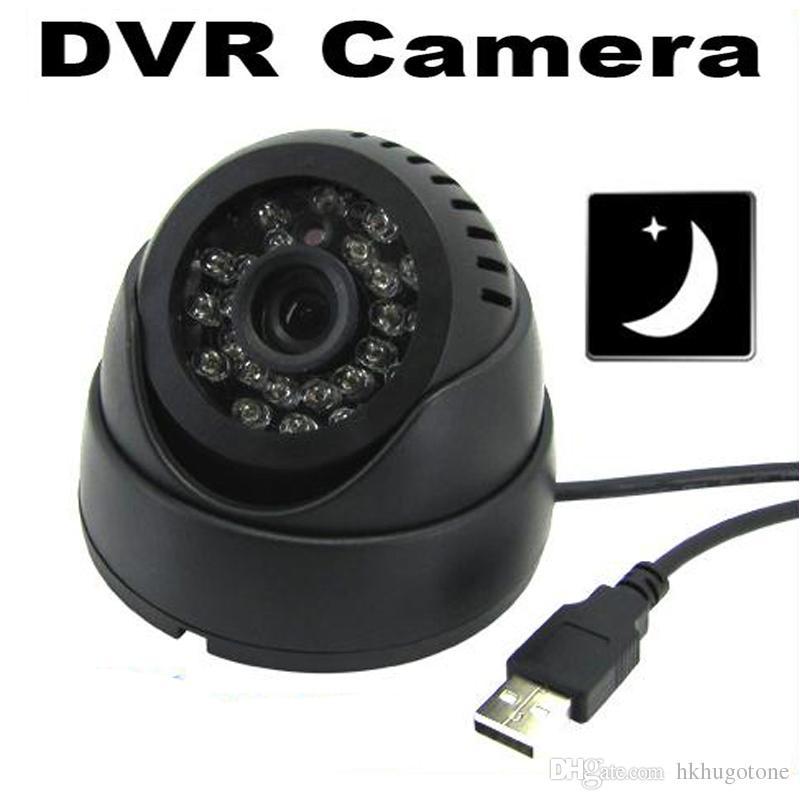 فتحة 24 الأشعة تحت الحمراء بقيادة كشف الذكية داخلي مراقبة مسجل فيديو الأشعة تحت الحمراء للرؤية الليلية الأمن CCTV DVR الكاميرا مع بطاقة TF