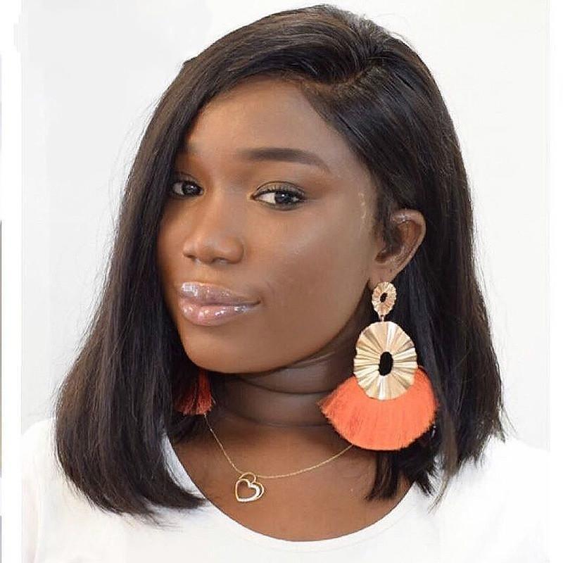 250 Dichte brasilianische Short Bob Remy Perücke gerade Spitze-Frontmenschenhaar-Perücken Natürliche Lace Frontal Perücke für schwarze Frauen