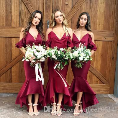 NOUVELLE EUROPÉENNE Robe dames chaude / Modèles explosifs Sexy V-Col V-Col Sling Robe de demoiselle d'honneur de mariage / dans le magasin pour choisir plus de styles