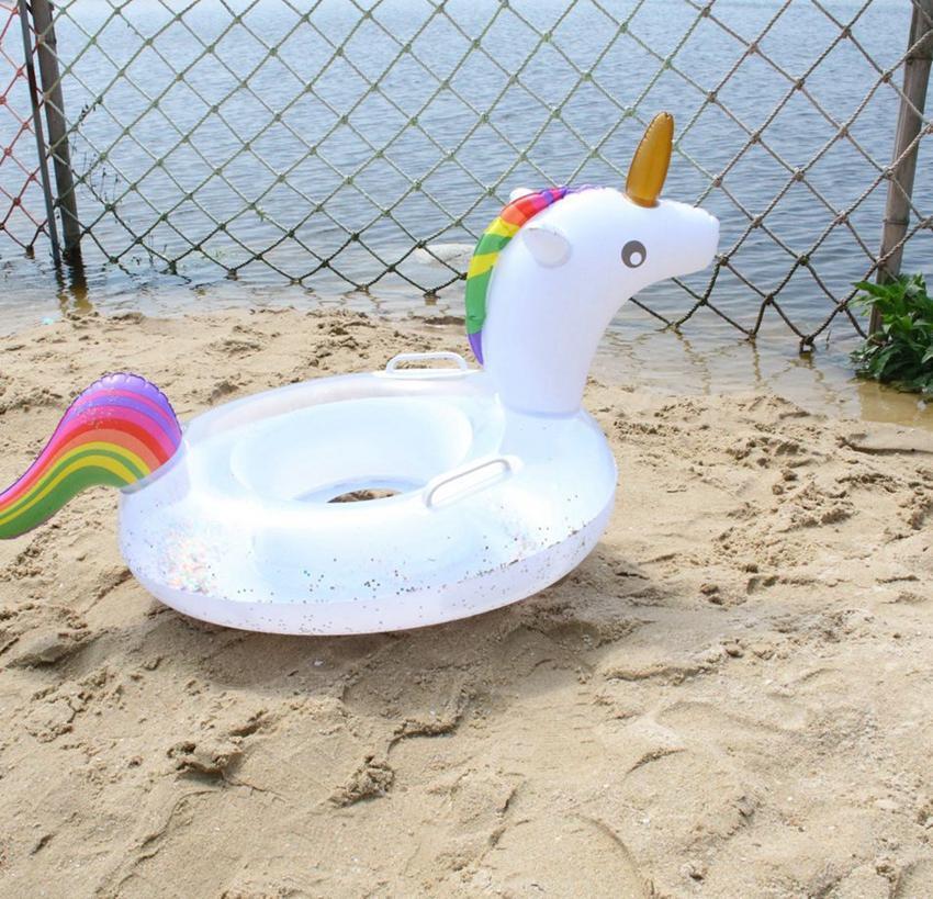 كارتون الاطفال نفخ السباحة الدائري تعويم يونيكورن الطوافة مقعد حمام سباحة للأطفال ألعاب أطفال للنفخ بركة تعويم LJJK2147
