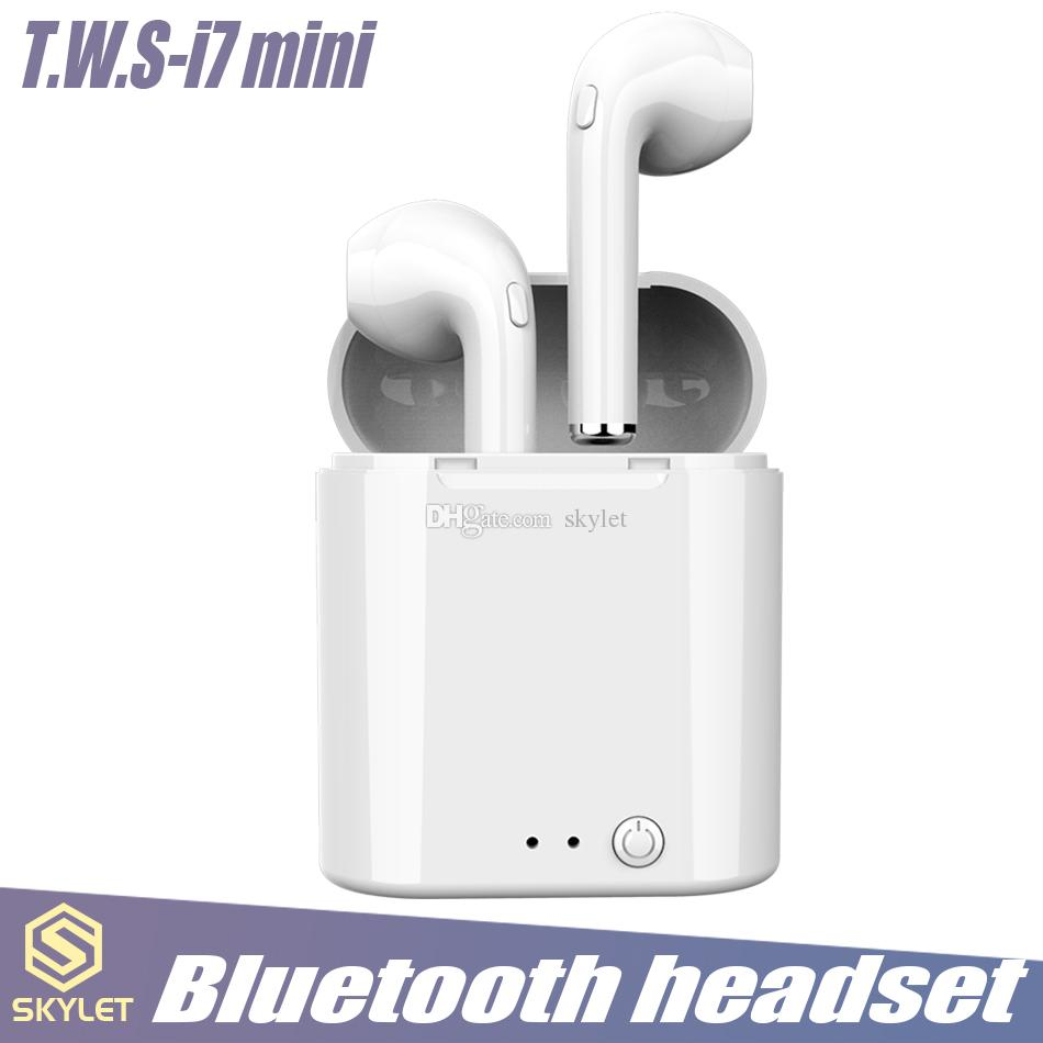 I7 Tws Mini Earbuds Wireless Headphone Bluetooth 4 2 Stereo Earphones Headset With Charging Box Mic For Ios And Android System In Box Stereo Bluetooth Wireless Headset For Phone From Skylet 5 5 Dhgate Com