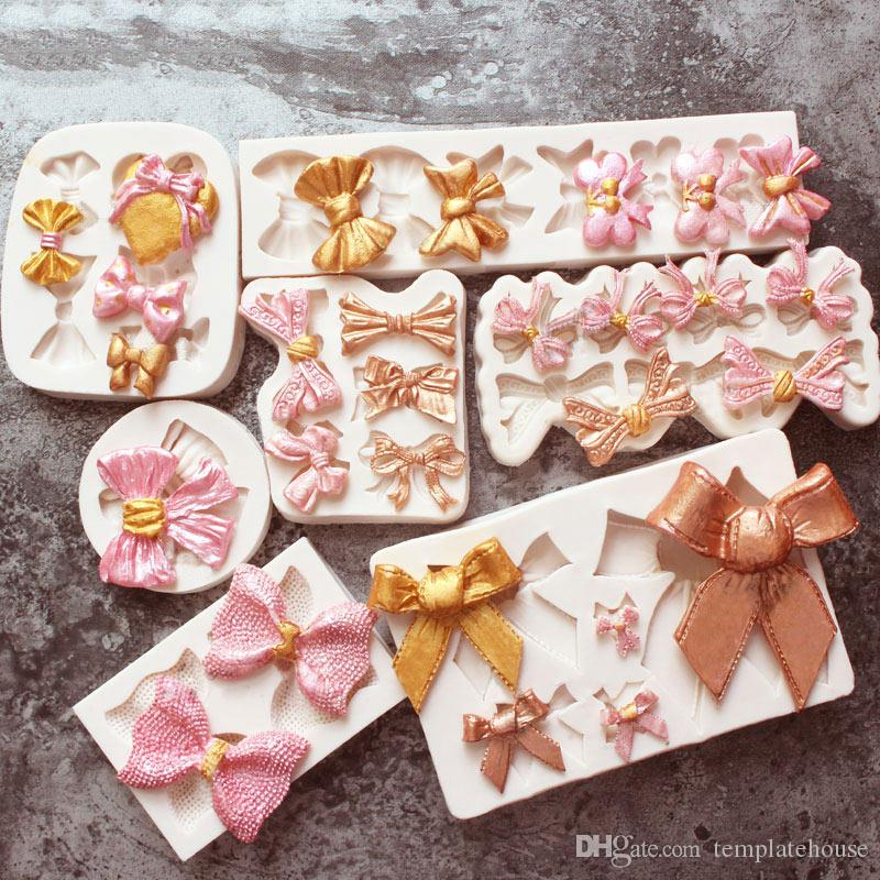 Bow-knot Collection Fondant Candy Silicone Mold for Sugarcraft Cake Decoration, Cupcake Topper, Polymer Clay, Soap Wax Making Crafting Proje