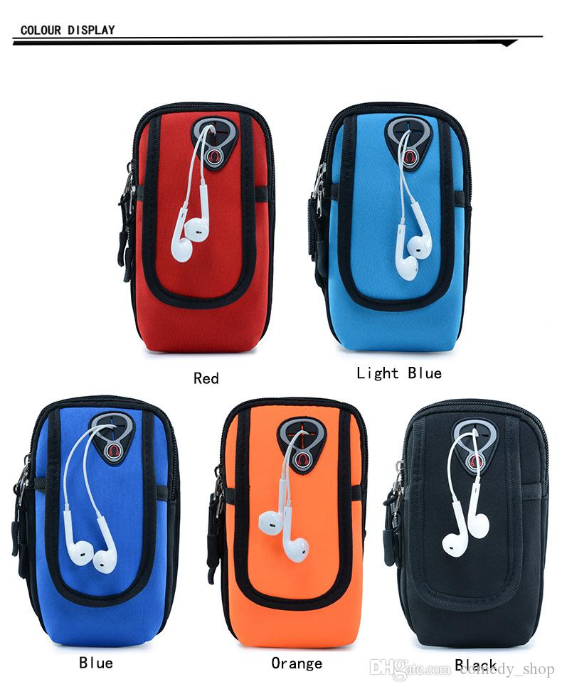 Waterproof 5.5/6 inch Mobile Phone Arm Band Bag Pouch Outdoor Sport Running Case Armband Holder On Hand for Running Gym Hiking