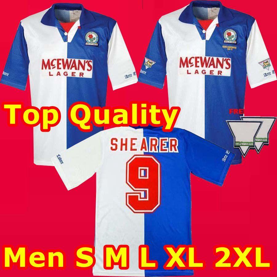Top Thailan 1994 1995 Blackburn Rovers retrò maglia da calcio 94 95 Blackburn Alan Shearer Sutton Hendry SHERWOOD BERG annata di calcio classica