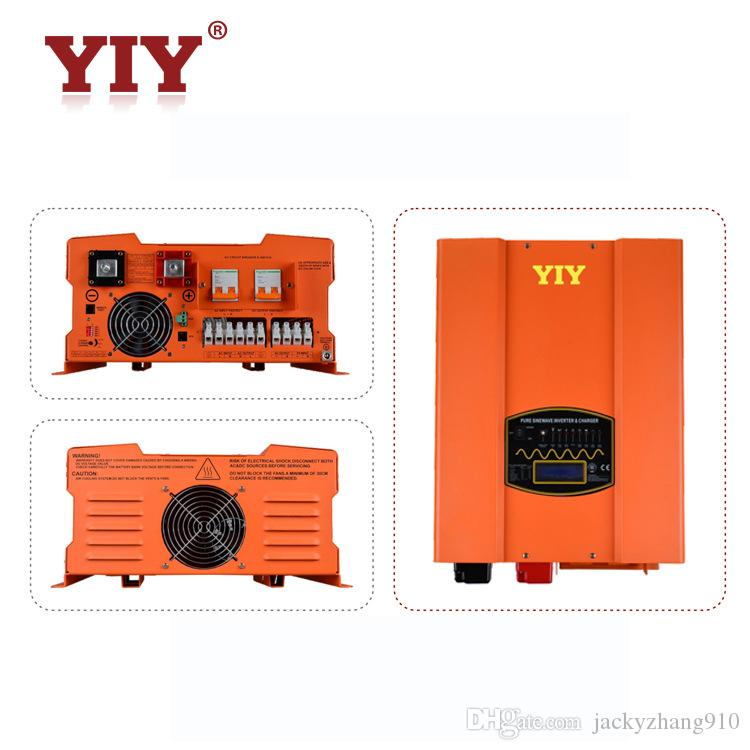 YIY HP&HP-PV DC12V/24V/48V 2KW PURE SINE WAVE INVERTER CHARGER HIGH OUTPUT CAPACITY UP TO AC&DC EXCHANGE THD<3% 50/60Hz FREQUENCY ADJUST