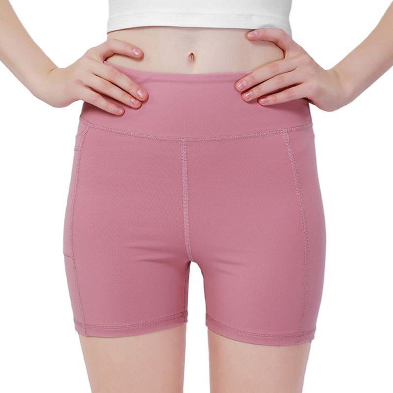 2020 Nouveau femmes taille haute Tummy Yoga Shorts Contrôle BuLift Leggings Courir poche