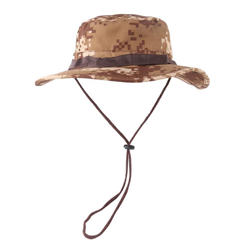 Bucket Hat Повседневный стиль Регулируемая Packable Складная Зонт Бленда хлопка Fisherman ВС Cap с ремешком