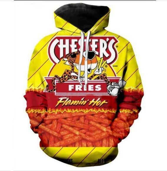 Herren Designer Hoodies für Frauen Männer Paare Sweatshirt Lovers 3D Hot Cheetos Hoodies Coats Hoodies Tees Kleidung WP029
