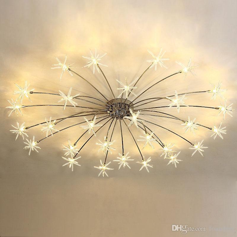 Moderno LED Luz de Techo Flor de Hielo Vidrio Dormitorio Cocina Niños Habitación Lámpara de Techo Accesorios de Iluminación de diseño 110-240V