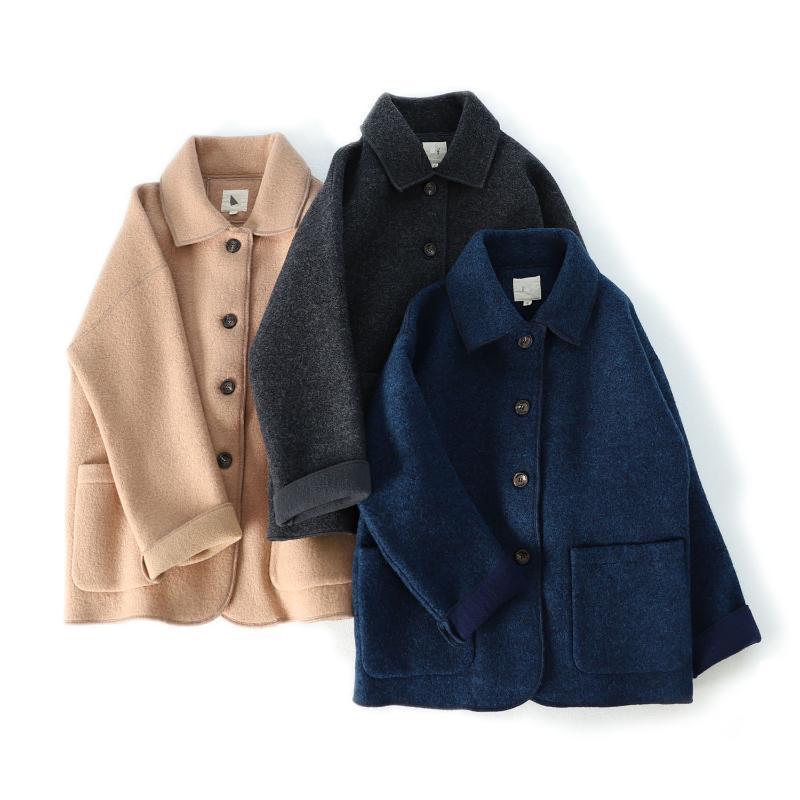 Otoño Invierno mujeres sueltan más la corto estilo japonés Mori chica caliente suave cómodo de lana condensada chaquetas de lana 3 colores