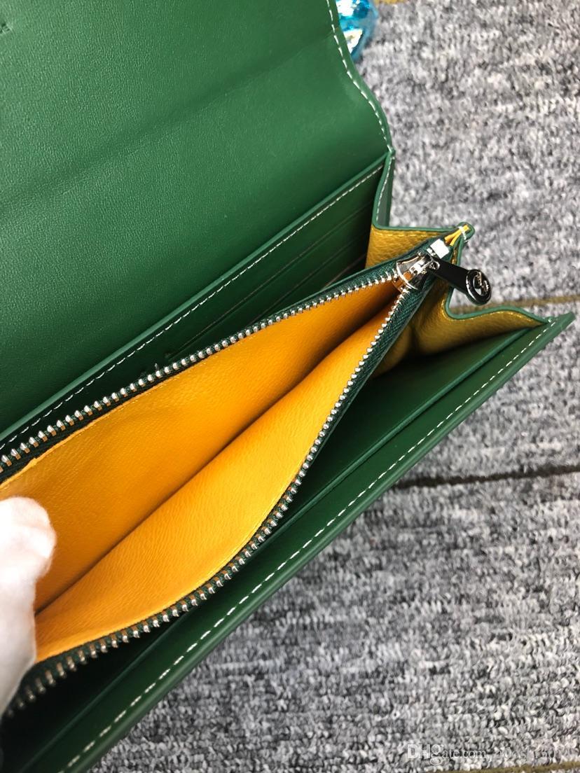Kutusu ile Moda deri yeni uzun iki kat cüzdan Tasarımcı Erkekler Kadınlar Paris Stil GY Uzun Fermuar Cüzdan Debriyaj Cüzdan Cüzdan Tutucular