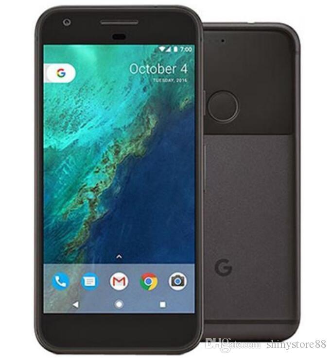 تجديد الأصلي جوجل بكسل مقفلة الهاتف الخليوي رباعية النواة 32GB / 128GB 5.0inch 12.3MP كاميرا 4G Lte