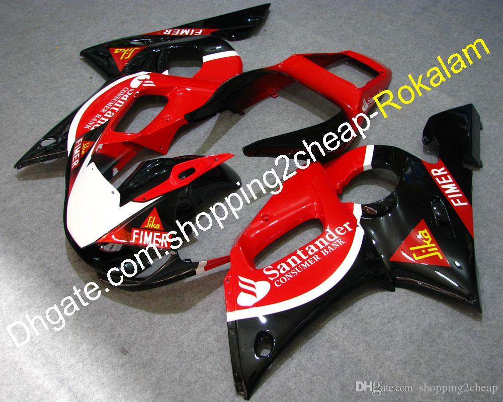 Motociclos montando para Yamaha ABS Plástico Feeding YZF600 R6 98 99 00 01 02 YZF-R6 1998 ~ 2002 YZFR6 Feedings Vermelho preto (moldagem por injeção)