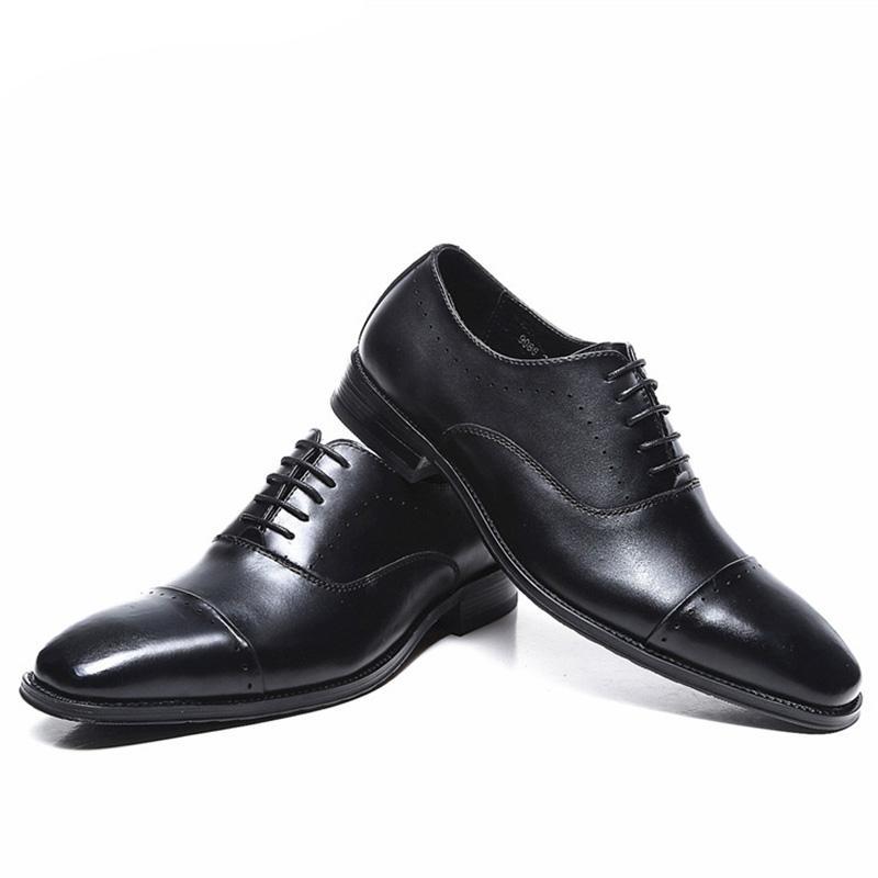 Костюм Обувь Мужчины Классический Черный Элегантные Туфли Для Мужчин Бизнес Обувь Мужчины Оксфорд Кожа Острым Носом Zapatos Italianos Hombre Scarpe