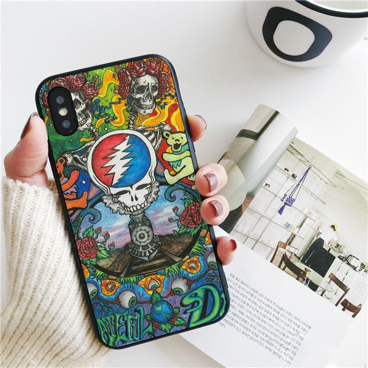 Coque Luxury Colorful Grateful Dead Cover для iPhone 11 Pro Xs Max Xr Case для iPhone 8 7 6s Plus 5S SE Case мягкая силиконовая крышка.