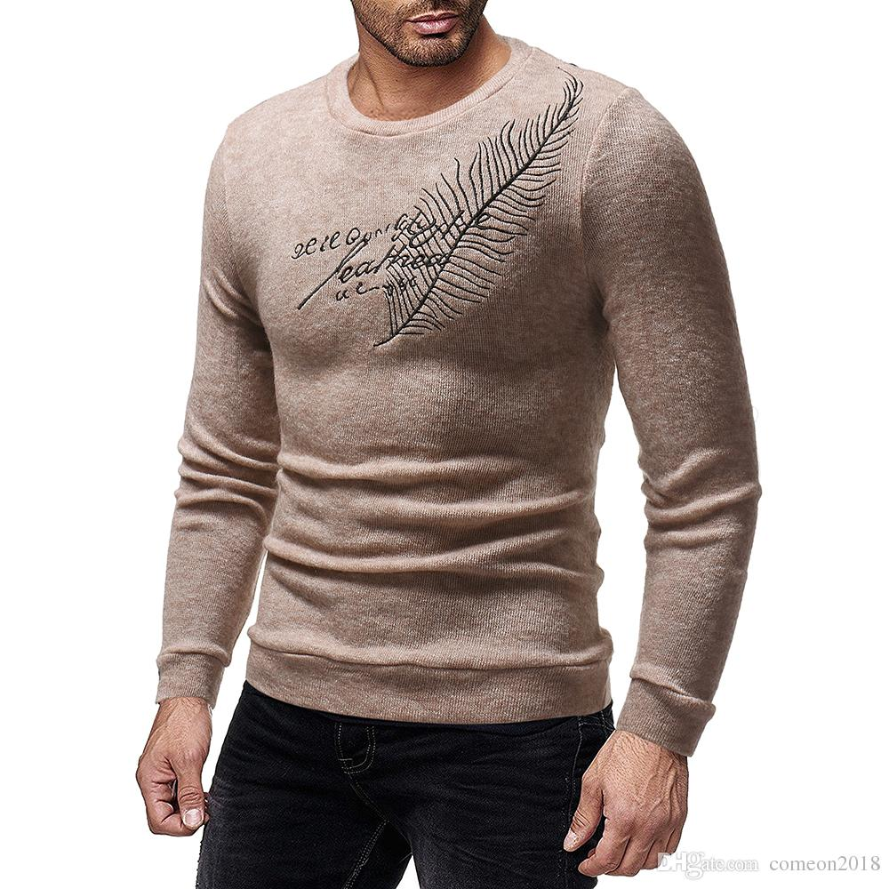 Designer Cardigan Sweaters Sweatshirt Wool Embroidered Mens Jacket Coat Men Fit Sports Clothing Knit Slim Pullover Jumper Mens Sweater Qkwg