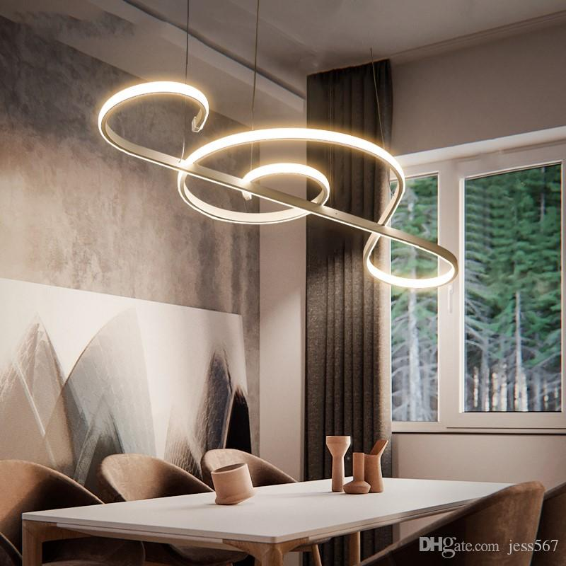 Modern LED Pendant Lights Dining Room Living Room Hanging Pendant Fixture  Note Designs Creatice Pendant Lamp Lustre Modern Drum Light Pendant  Discount ...