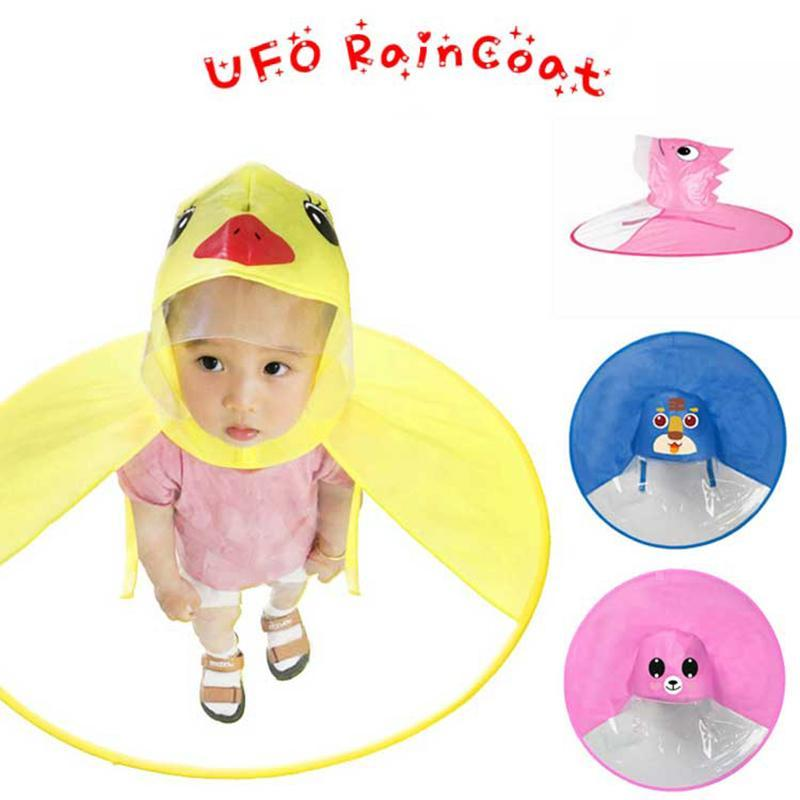 Ufo детских Дождевики Симпатичный желтый уток дождевик Водонепроницаемый Для детей Зонтика Cover Girl Boy дождевик ребенок пончо Плащ ojYsj