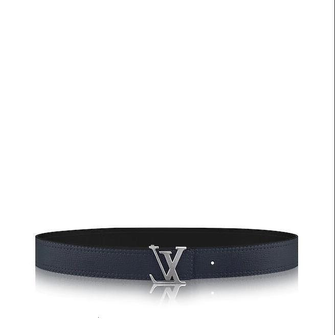 Double-sided M9903q Navy Initiales New Belt 40 Mm Men Authentic Reversible Belt New Official Men Belt With Box