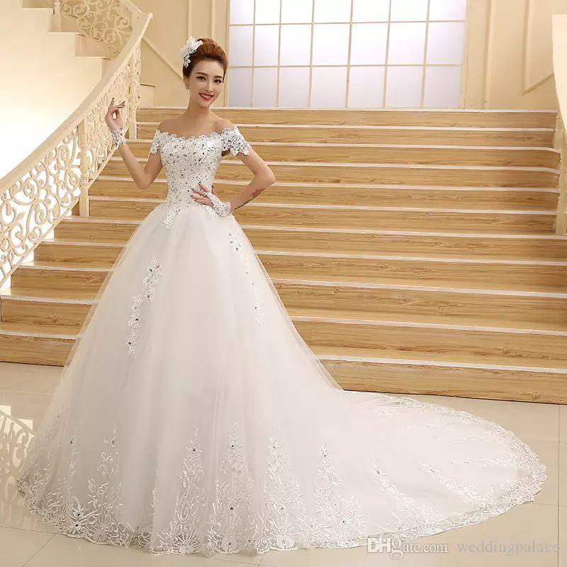 Abito da sposa maniche corte a maniche lunghe con maniche lunghe e maniche lunghe in pizzo Vestido De Novia