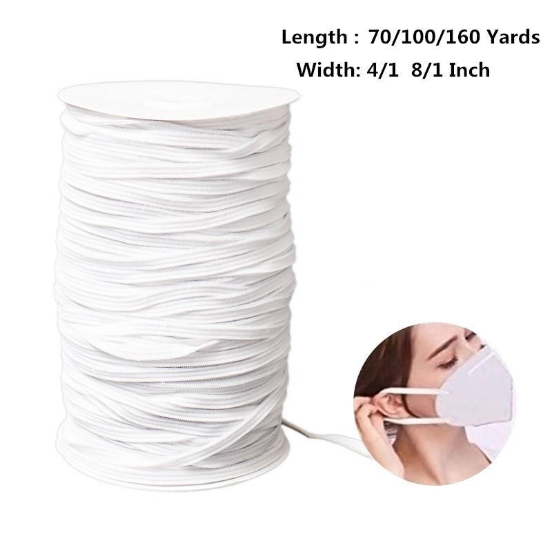 2020 1 8 1 4 Inch Elastic Cord Earloop For Face Mask Elastic Loop