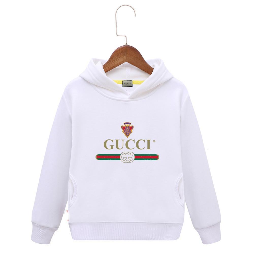 Renkler hoodies Of 2019 Bahar Erkek Kız Uzun Çocuk Yazım Kol Saf plumule Çember Yuvarlak Yaka Triko A Variety