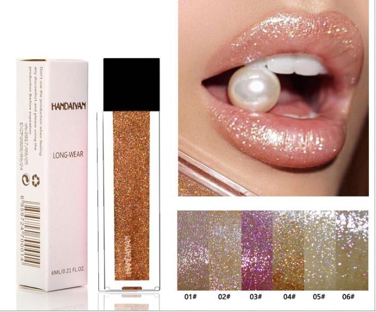 Make-up Großhandel neue heiße Artperlen matt nicht Dippbecher Lipgloss Nixen glänzend Lipgloss