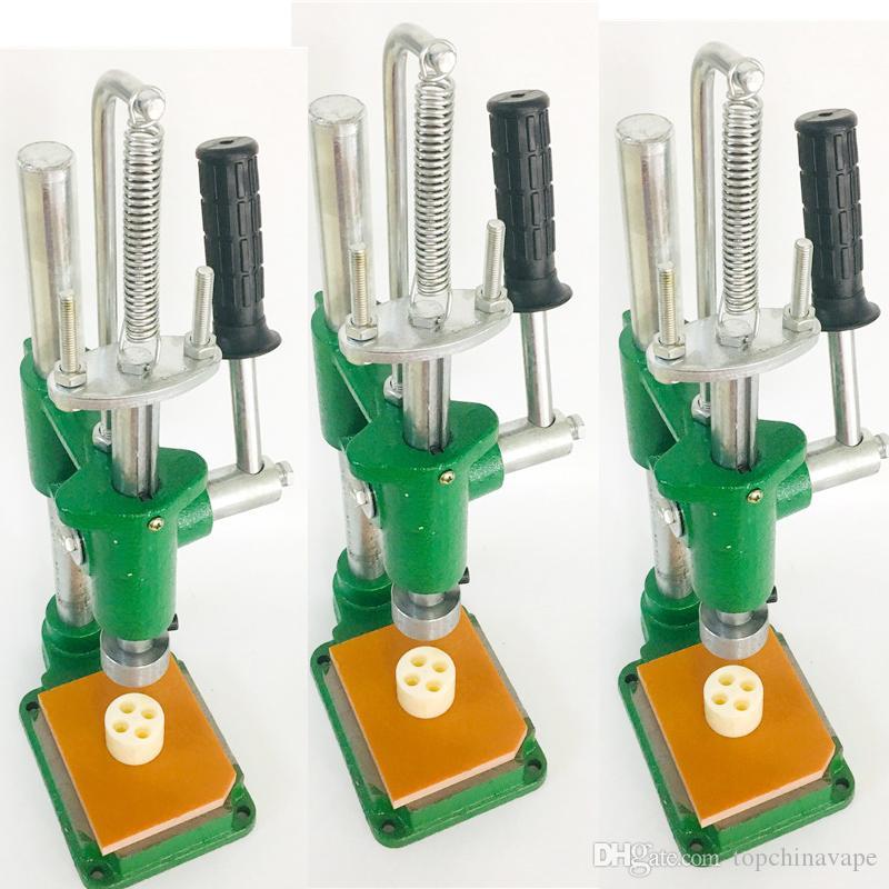 Machine pour manuellement Appuyez sur M6t / G5 / Moonrock / Eureka / Cartouches chroniques Vider Vape Pen huile épaisse cartouche Machine de presse Atomiseur Presser
