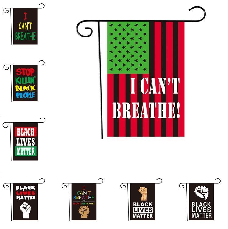 Festliche Banner Flags Ich kann die Flagge nicht atmen, die amerikanische Parade-Flagge, die schwarze Leben Materie Flagge Garten Flags 6094