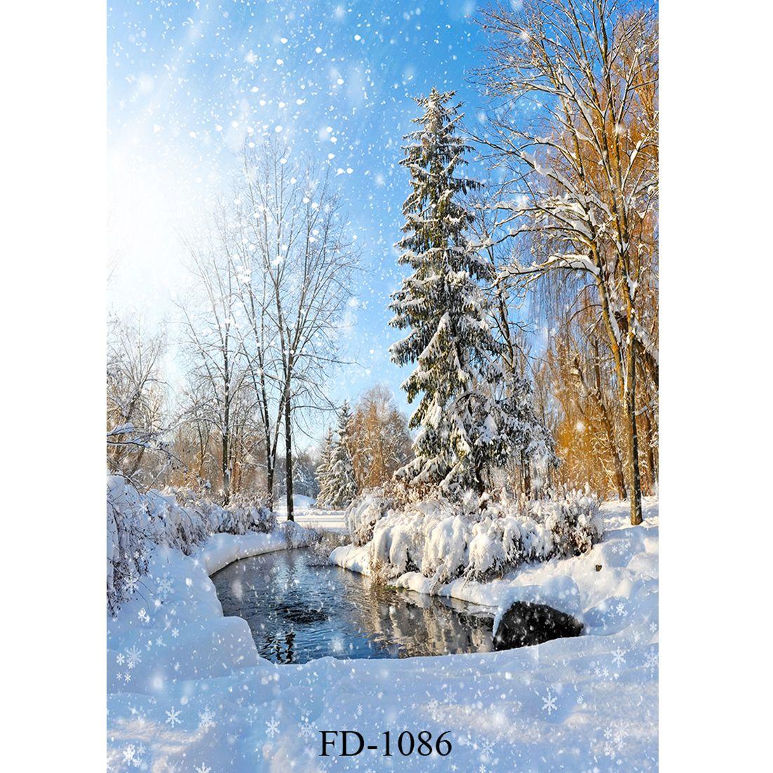 Vinyl Custom Photography Backdrops Prop Digital Printed Christmas day theme Photo Studio Background HJ933