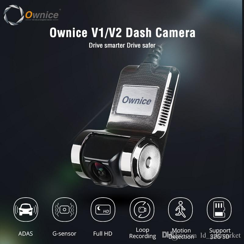 Ownice V1 V2 Mini ADAS Car DVR Carmera Dash Cam Full HD1080P Car Video Recorder G-sensor للرؤية الليلية Dashcam الملحقات
