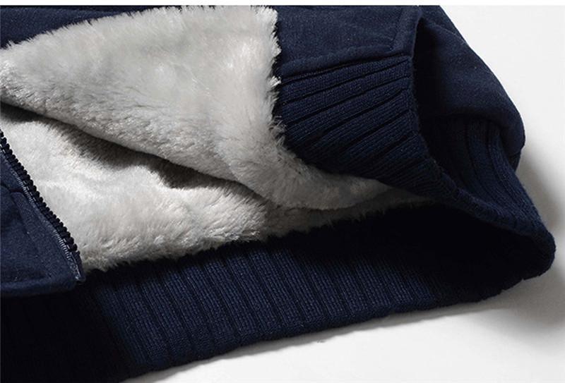 Winter Grosso Hoodies Homens Zíper Casaco com Capuz Marca Mens Tracksuit Sueter Jaquetas de Relatórios Quente US / EUR Plus Size Fleece Hoody