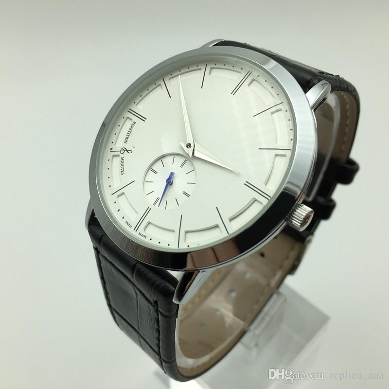 Hot sale 40mm pequeno três agulha de quartzo mens de couro relógios de moda casual homens vestido de designer de relógio por atacado presentes masculinos relógio de pulso horloge