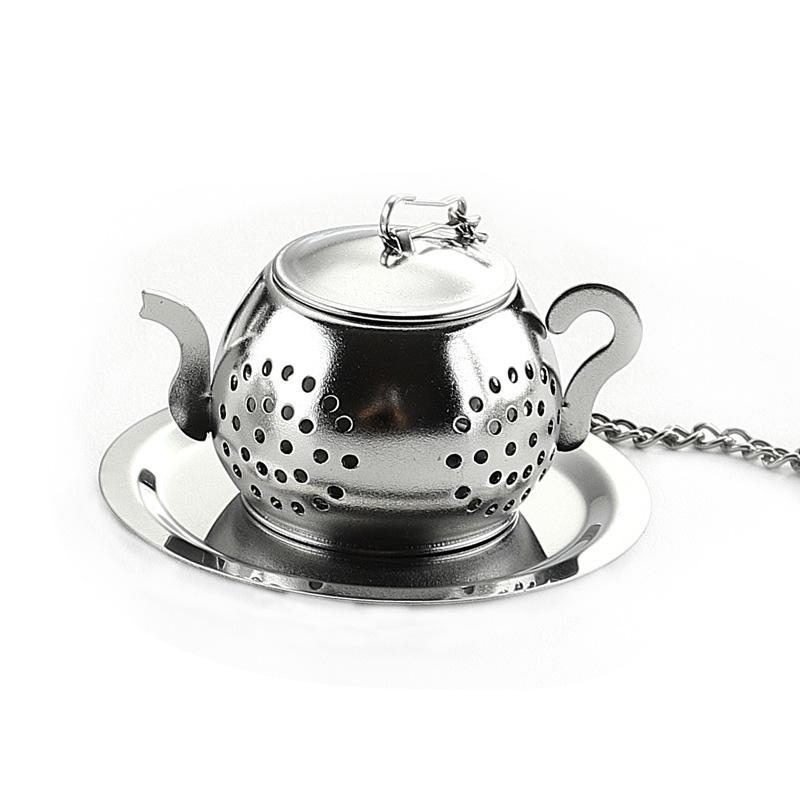 Teapot Tea Strainer Loose Teapot Shaped Tea Leaf Infuser Spice Stainless Steel Drinking Infuser Kitchen Tools