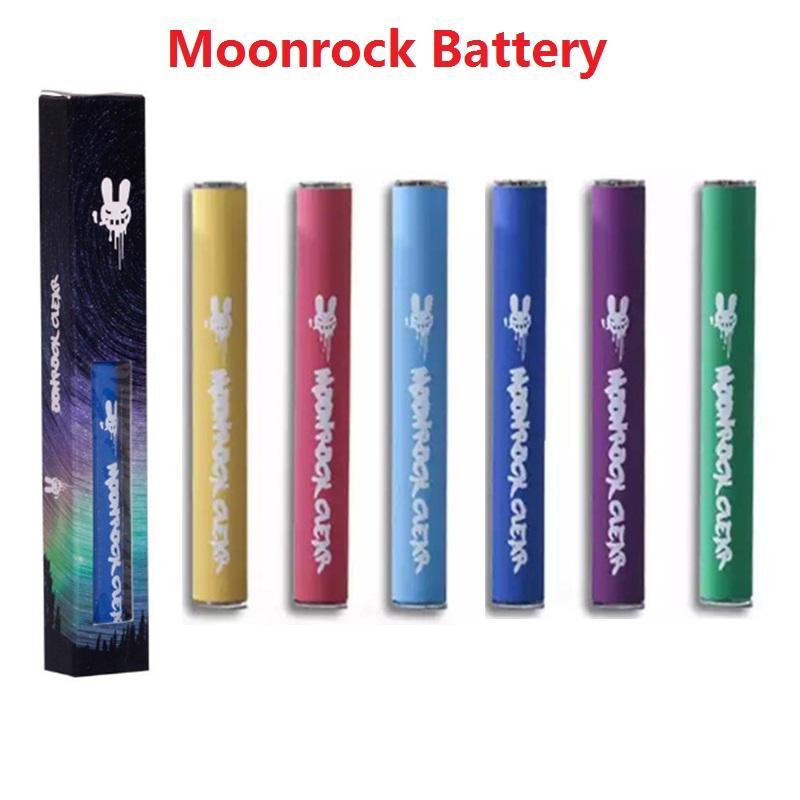 Новый Moonrock Аккумуляторная батарея 350 мАч Перезаряжаемые Vape Pen Cartridges Аккумулятор 0.5 мм 5 0 Bud Touch Аккумулятор Светодиодный свет для Moonrock Clear Cards