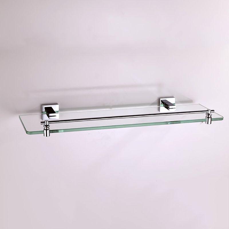 Bathroom Shelf Wall Mounted Antique Brass Black Chrome Shampoo Shower Soap Storage Glass Rack Holder for Bathroom Kitchen Bath