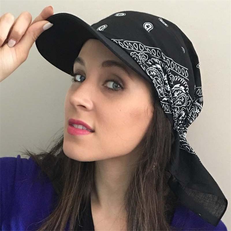 ISHOWTIENDA Мода 1Pcs Женщины Индии мусульманская Ретро цветочные хлопок сплошной цвет Полотенце Cap Брим Тюрбан Бейсбол Hat Wrap Shade Cap