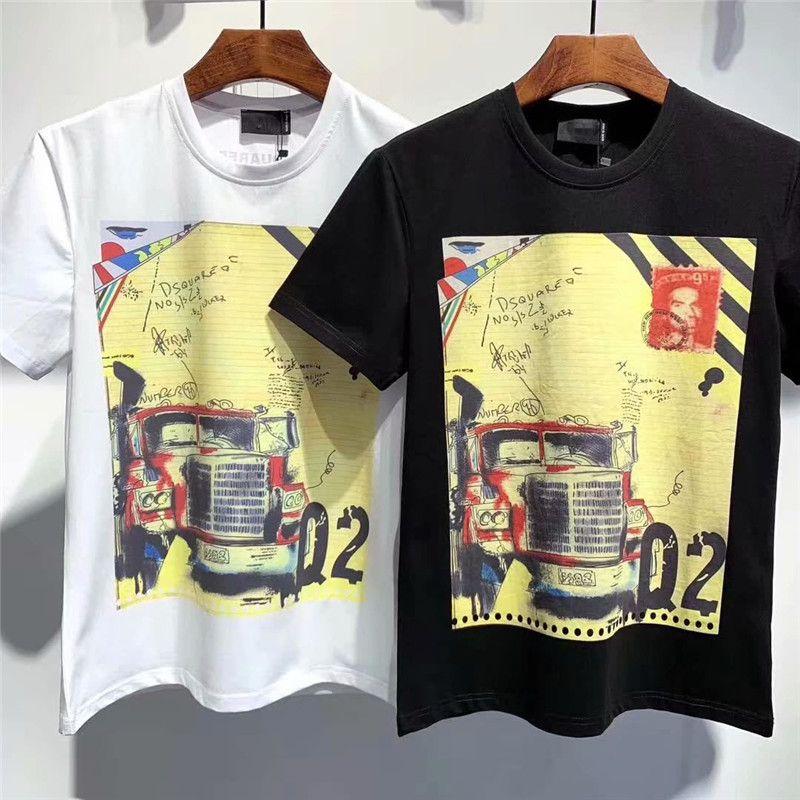 2020 homens t shirt bordado Carta Imprimir Men Casual em torno do pescoço Mulheres shirts Verão camisa dos homens t de Luxo topos qp K2