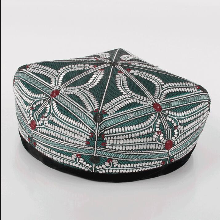 chapéu superior Xinjiang Uygur Handmade Plano