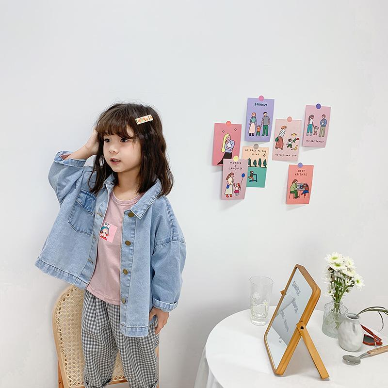 New Kids Jackets de mode coréenne de haute qualité Veste en jean pour les garçons fille Vêtements 2020 Printemps Enfants Vêtements 2 3 4 5 6 ans