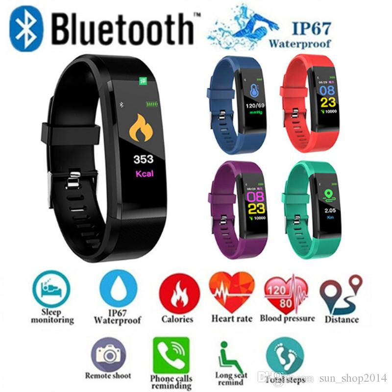 ID115 Artı Akıllı Bilezik Spor Izci Akıllı Izle Kalp Hızı Kordonlu Saat Akıllı Bileklik ile ipple Android Cep Telefonları Için Kutusu