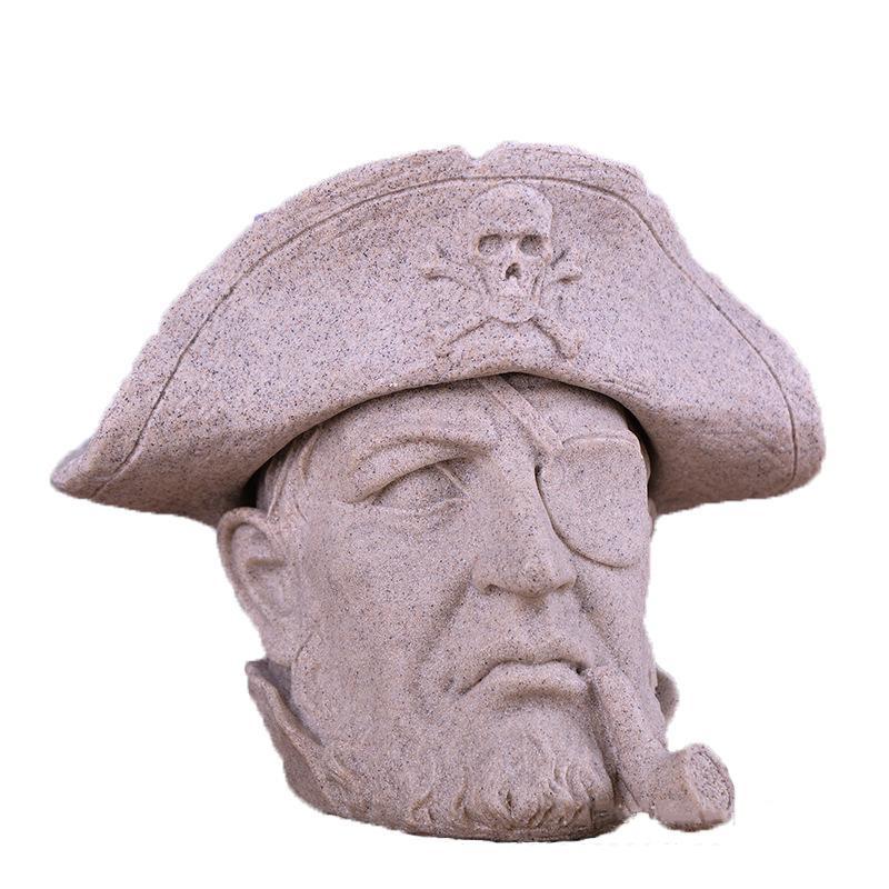 الإبداعية الراتنج الحجر الرملي الحرف الحلي الإبداعية القراصنة الكابتن منفضة دراسة سطح المكتب الديكور رجل هدايا عيد