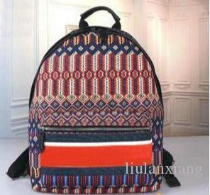 2019 tasarımcılar çanta 29cm * 10cm * 33cm Seyahat kadınlar Okul Çantaları büyük kapasite için tuval sırt çantası mektup model fermuar seyahat çantası baskı