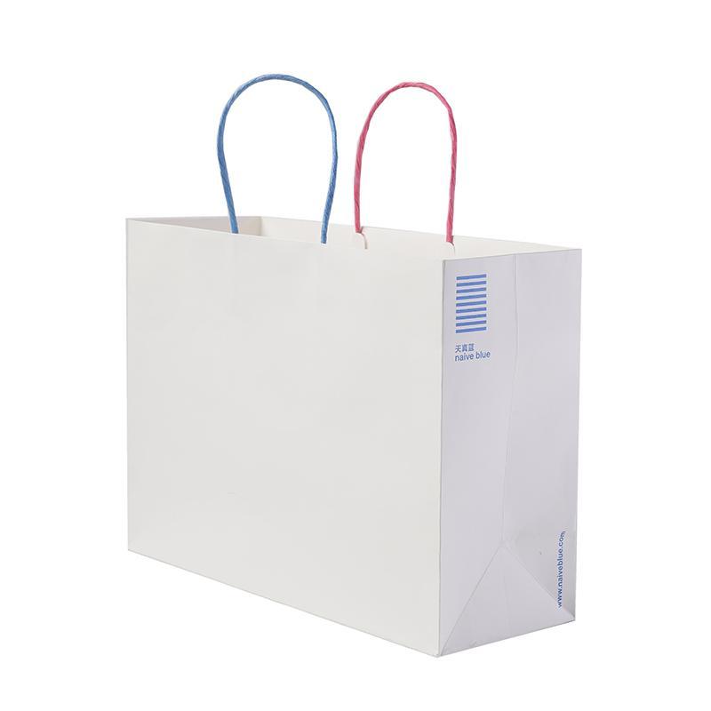 مقبض مخصص الملتوية ورقة التسوق براون كرافت Paperbags مع شعار طباعة
