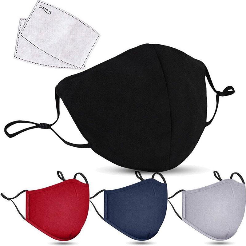 mascarillas diseñador anti-niebla a prueba de polvo de algodón pura de manantial transpirable y de la moda otoño versión coreana de PM2.5 activado máscara de carbono