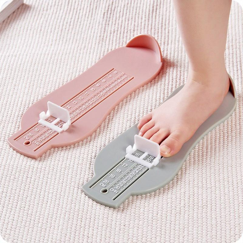 Righello del piede del bambino 3 colori infante piede Misura scartamento variabile gamma di dimensioni 0-20cm Props misurare piede del bambino di misura Righello