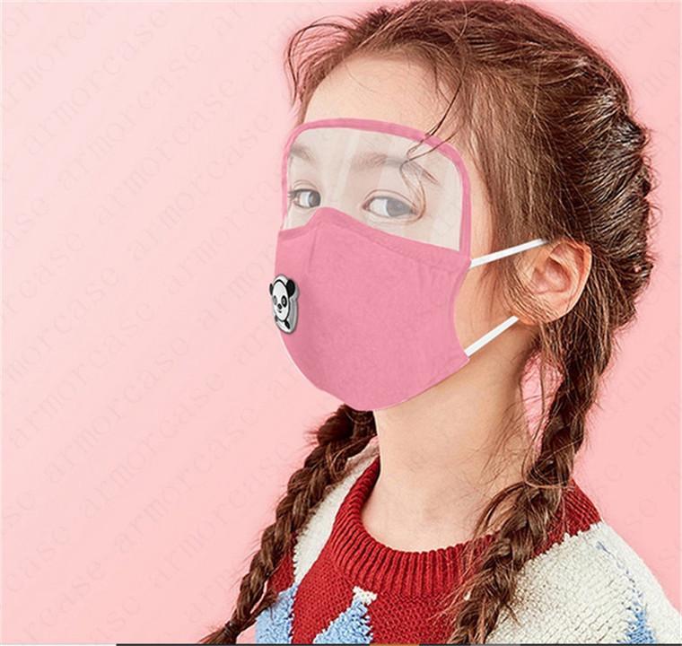 2 en 1 niños lavables Mascarilla puede añadir almohadilla del filtro protector PM2.5 niños ojo protector facial reutilizable cubren respirables de las muchachas de la máscara D6811